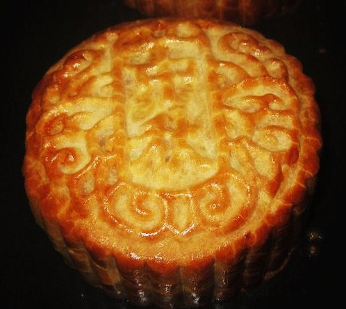 Mooncake after baking