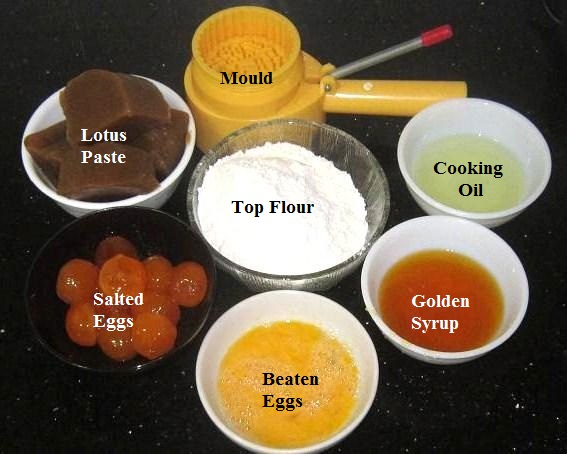 Ingredients for Mooncake