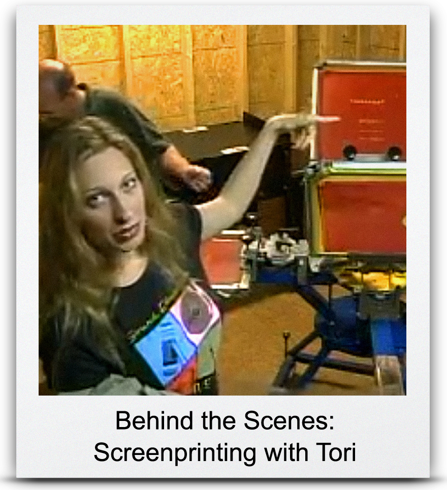 Behind the Scenes: Screenprinting with Tori