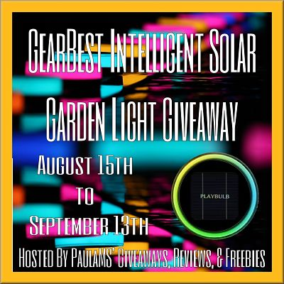 GearBest Intelligent Solar Garden Light Giveaway Sign Ups End 6 AM on 8/13 - Free & Paid Options Available