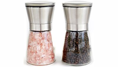 Kitchen Classique Stainless Steel Salt and Pepper Grinder Set