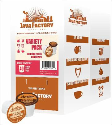 40 Count Java Factory Single Cup Coffee Giveaway Jan 30 - Feb 22 #javafactory