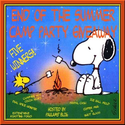 Blogger Opportunity: End of the Summer Camp Party Giveaway Sign Ups end 9/4