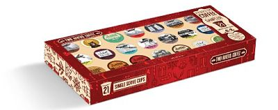 Two Rivers Premium Coffee Gift Box for Keurig K-Cup Brewers, 21 Count