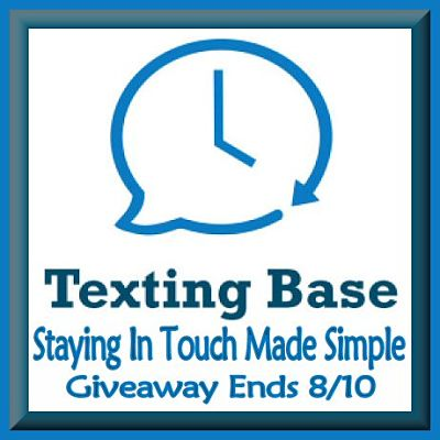 Texting Base Giveaway ends 8/10
