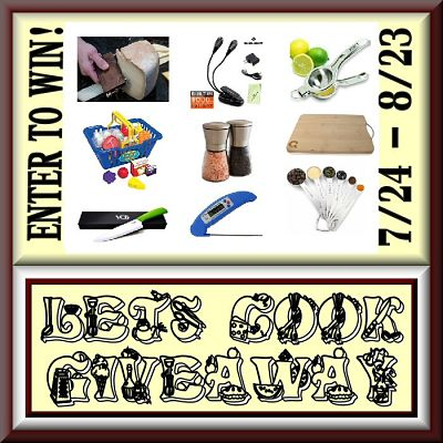Don't miss your chance to #Win over $400 in prizes in the #LetsCook #Giveaway Enter before it ends 8/23