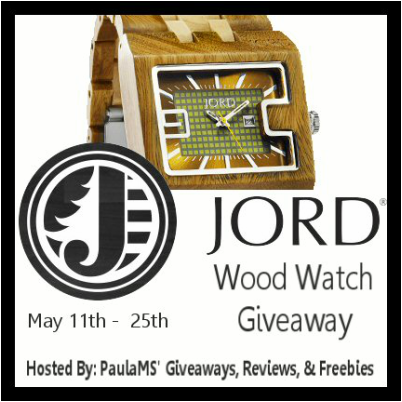 Jord Wood Watch Giveaway ends May 25th #jordwatch