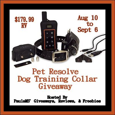 Enter to Win a Pet Resolve Dog Training Collar with Remote Worth $179.99