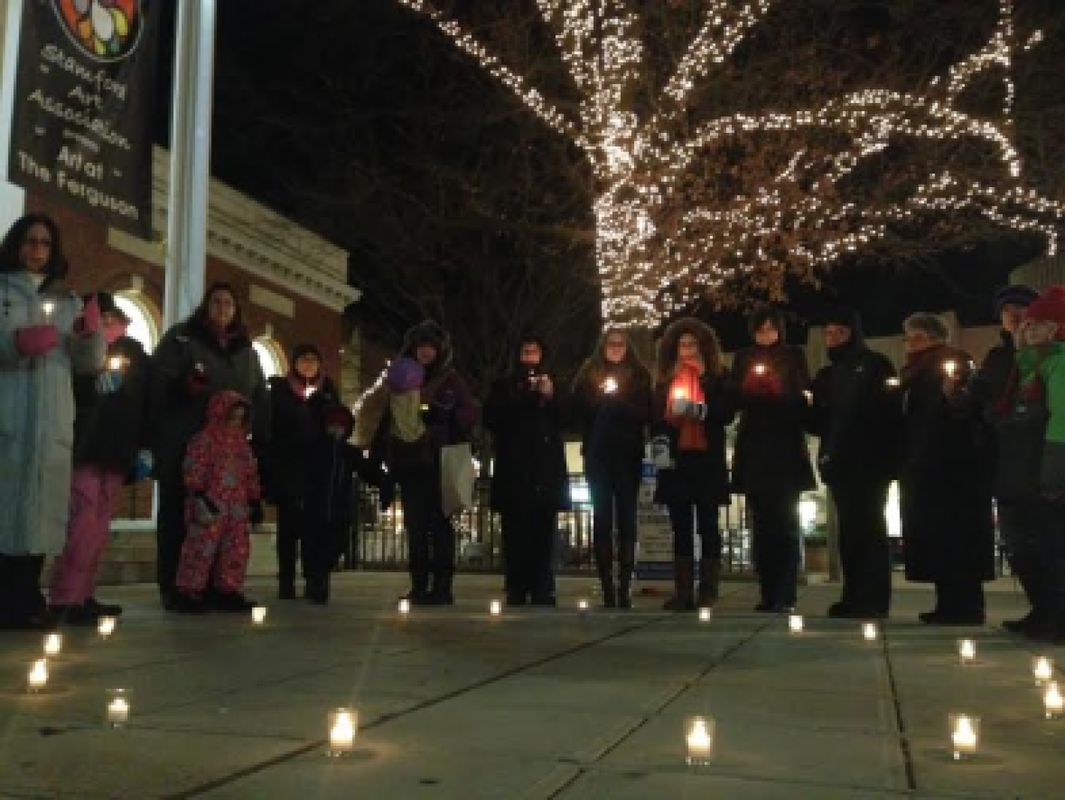 The ENOUGH Campaign Vigil of Hope marking the one-year anniversary of the newtown massacre