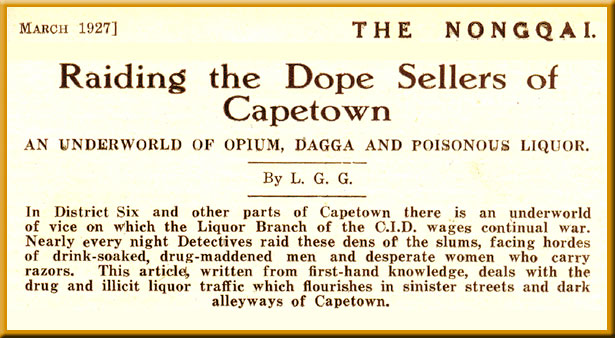 Raiding the Dope Sellers of Capetown