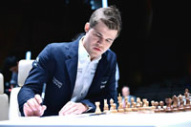 Carlsen at Shamkir Chess 2014