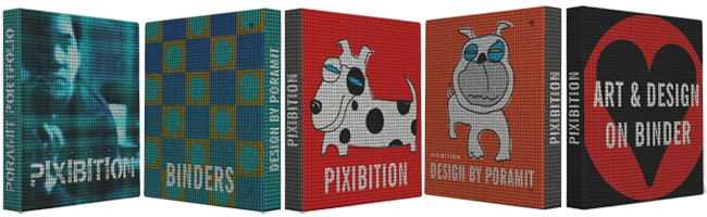 Pixibition's binders collection
