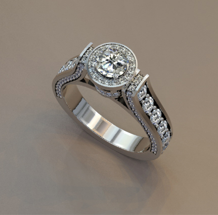 Custom diamond wedding band design by Massoud