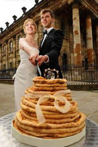 Pizza Wedding Cake