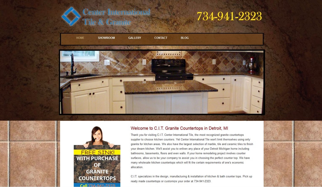 kitchen granite countertops in detroit mi