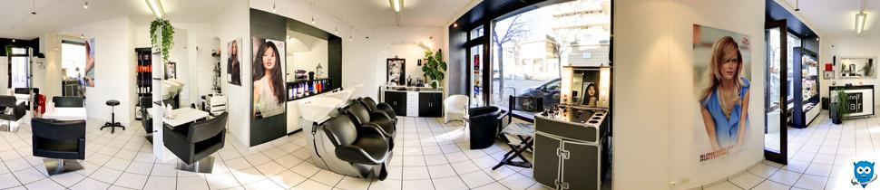 visite virtuelle google business view 360 degrés du salone de coiffure Jennif Hair à Vevey par yetiromandie.ch