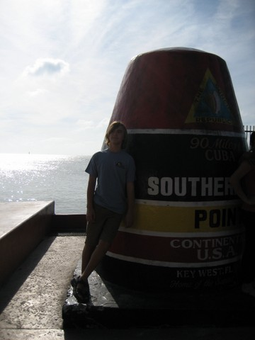 Grant at Southernmost Point buoy