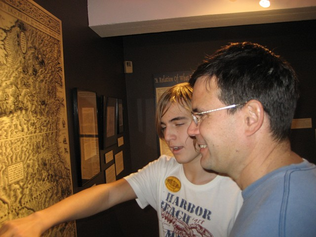 Grant and derek with Spanish era map