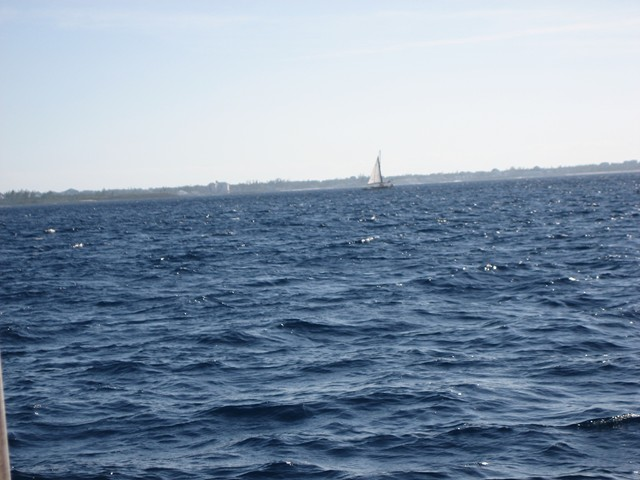 Grace sailing into Nassau