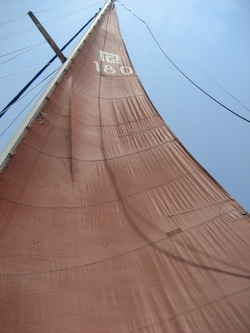 Prout Catamarans mainsail, hull 180