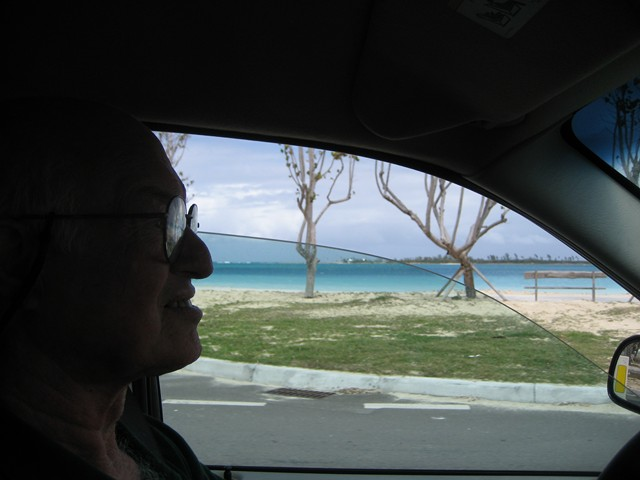 Nick driving past the western beaches