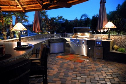 Outdoor kitchen design backyard renovations