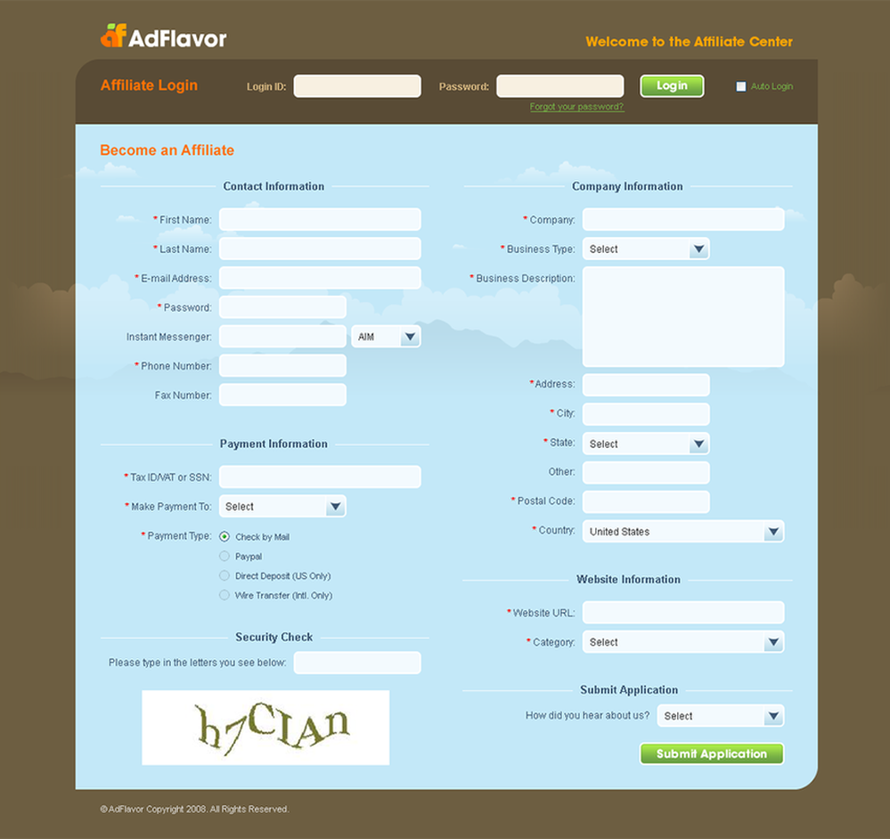 Affiliate portal screen UI and UX design