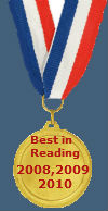 Best in Reading Award 2008, 2009, 2010