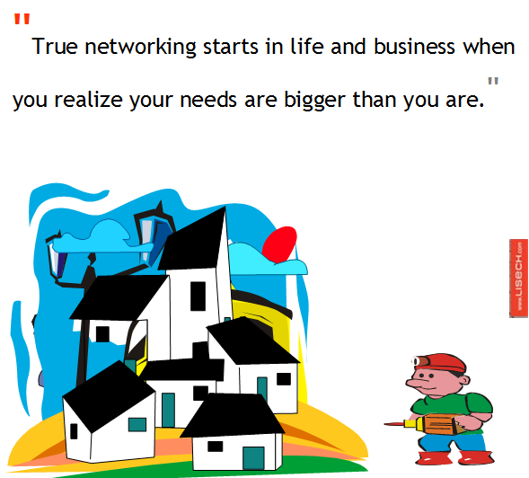 Networking when you realize your needs are bigger than you are