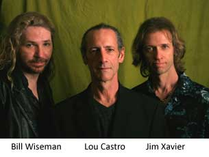 photo of band members, Bill Wiseman, Lou Castro, and Jim Xavier