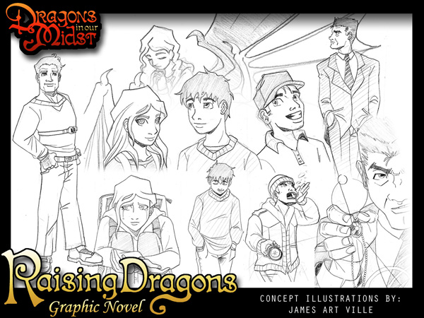 Raising Dragons Graphic Novel Concept Art