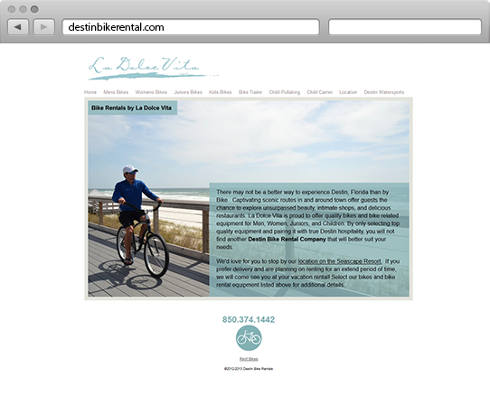 Destin Bike Rental Website