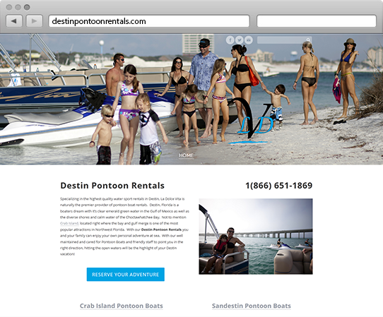Destin Pontoon Website