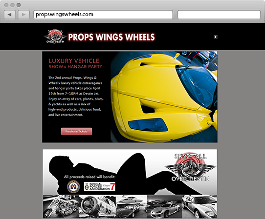 Props Wings Wheels Website