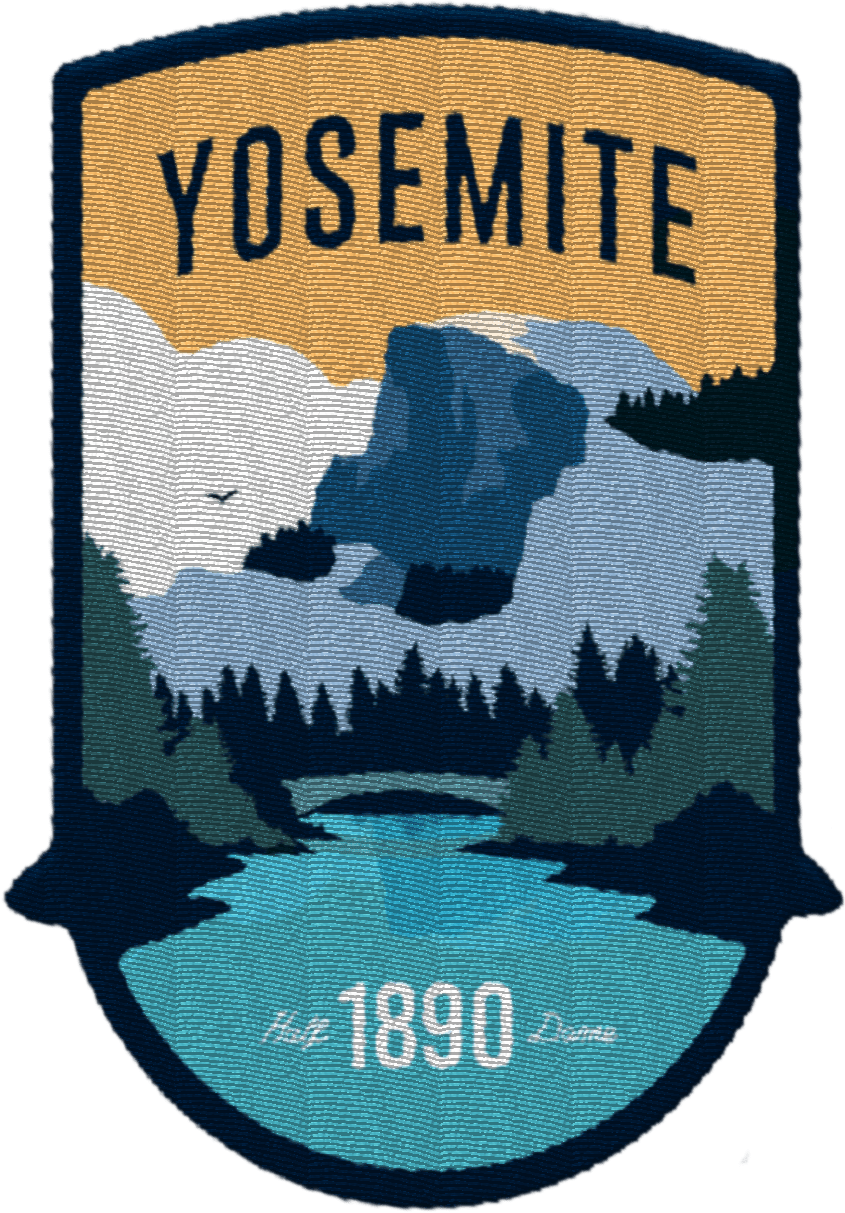 Yosemite National Park (Half Dome) Patch