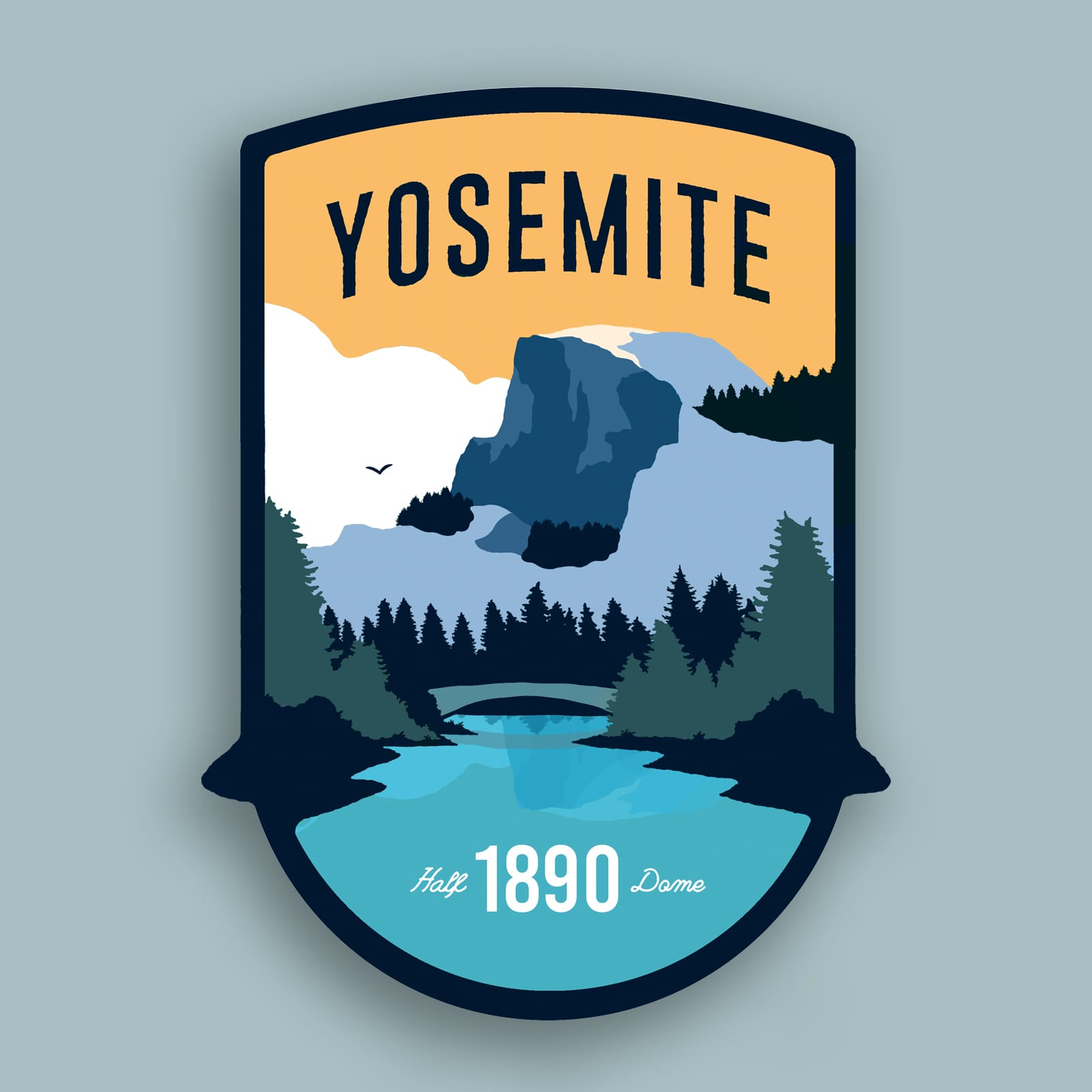 Yosemite Sticker | Half Dome