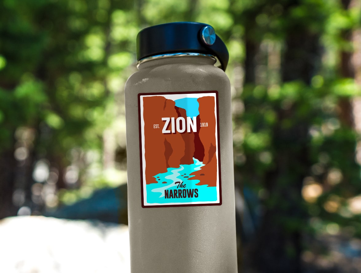Zion National Park (Narrows) Sticker