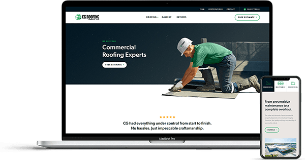 Jacksonville Website Design for CG Roofing