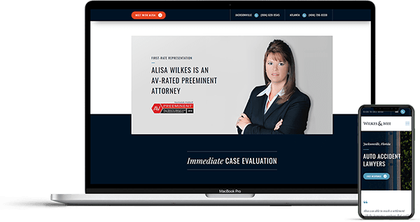 Jacksonville Website Design for Wilkes & Mee