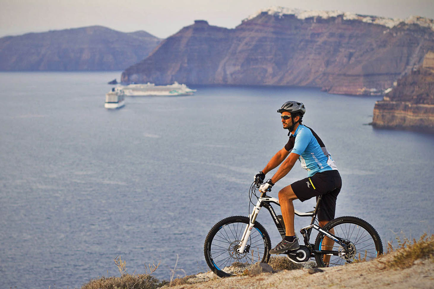 Santorini Eco electric ebike tour