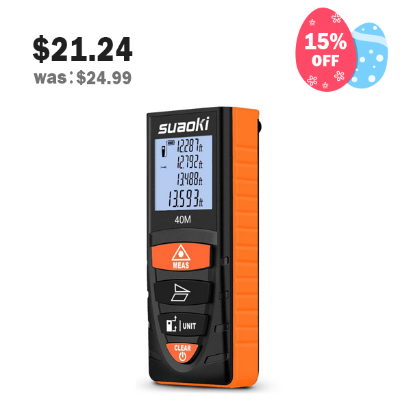 Suaoki D8 Digital Laser Measure 131 Feet/ 40 Meter