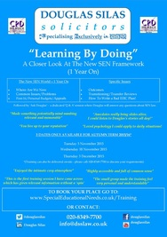 "​NEW TRAINING FOR 2015/16: ""LEARNING BY DOING: A CLOSER LOOK AT THE NEW SEN FRAMEWORK (1 YEAR ON)"