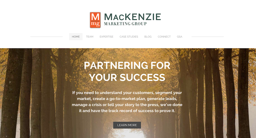 MacKenzie Marketing Homepage