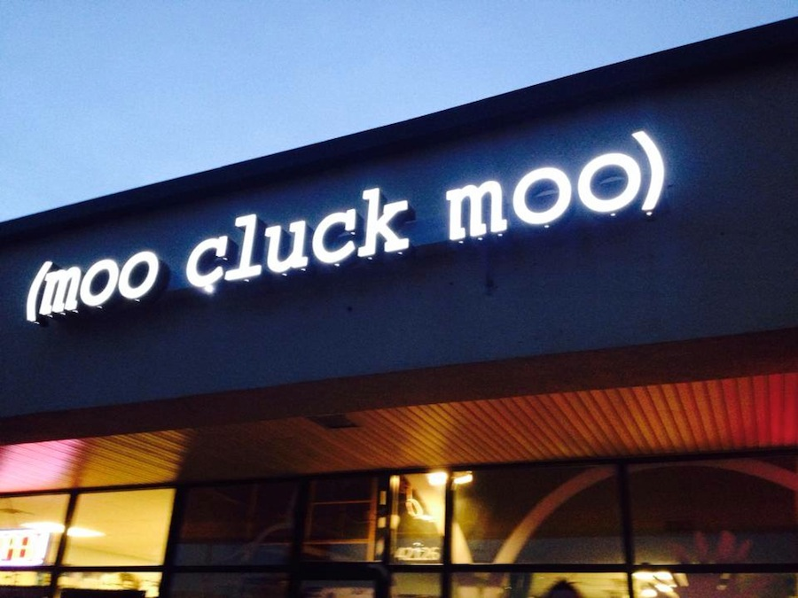 Moo Cluck Moo Sign