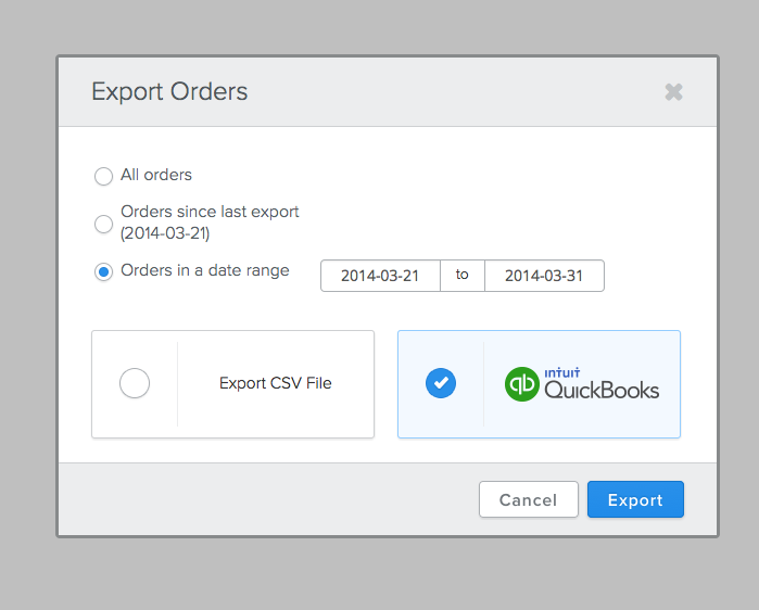 Export Screen