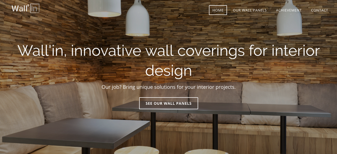 Wall'in Weebly Website