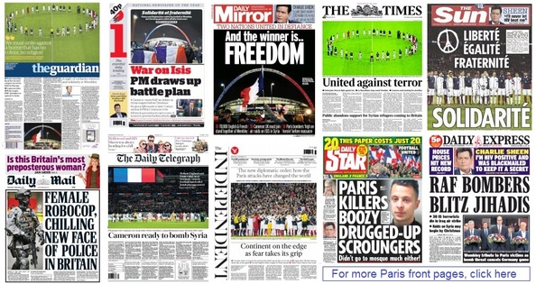 Front pages 18-11-15