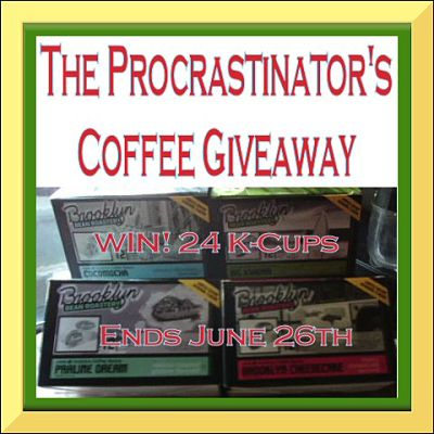 Hot beverage Time to stop Procrastinating & Enter this #Giveaway for some #BBR #Coffee before it ends 6/26
