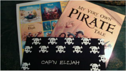 My Very Own Pirate Tale Personalized Storybook, Bandana, and Sticker Gift Set
