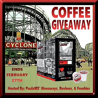 Brooklyn Beans Cyclone Coffee Giveaway. Ends 2/27